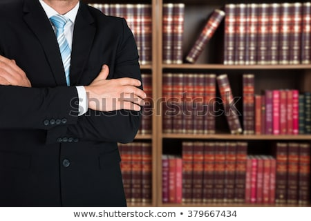 Juridiques avocat bras livres bureau Photo stock © AndreyPopov