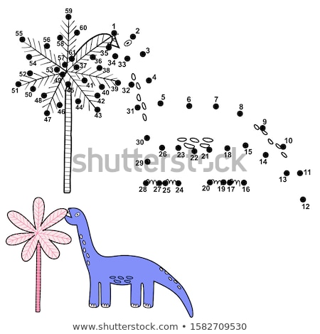 Cartoon dinosaures livre de coloriage puzzle Kid enfants Photo stock © natali_brill