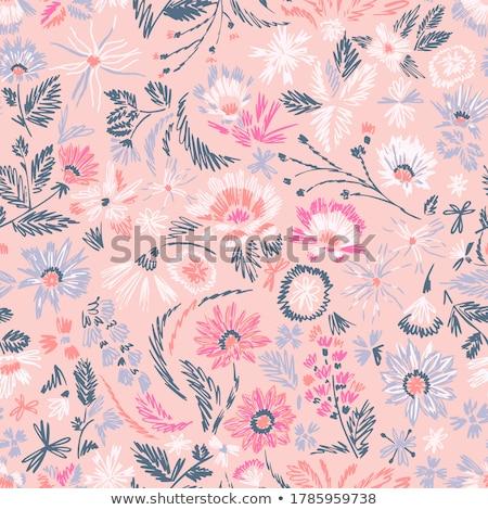 Wzór kwiatowy stylu kwiat taflowy kwiatowy Zdjęcia stock © sanyal