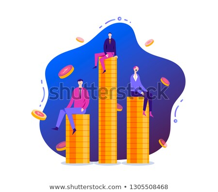 Drawing a profit projection graph concepts of money making stock photo © johnkwan