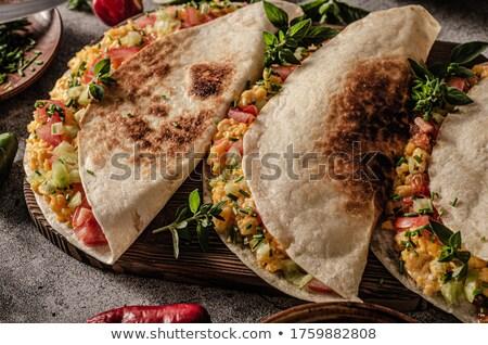Roereieren vers kaas kruiden plantaardige Stockfoto © Peteer