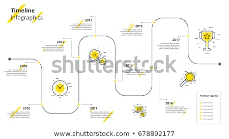 yearly business timeline infographic chart template design Stock photo © SArts