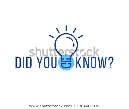 did you know interesting fact background design Stock photo © SArts
