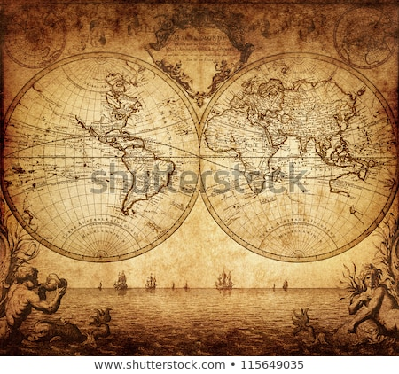Velho vintage retro antigo mapa europa Foto stock © vapi
