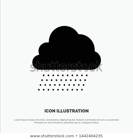 Wind and snow. Icon. Cold weather glyph vector illustration Stock photo © Imaagio
