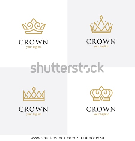Luksusowe złoty królewski zestaw cztery projektu Zdjęcia stock © SArts