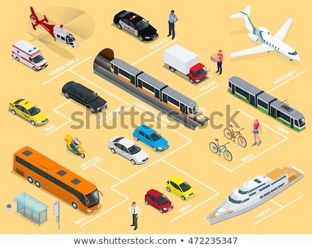 Public Transport Double-decker Bus isometric icon vector illustration Stock photo © pikepicture