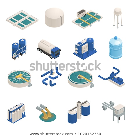 Water Treatment Filter isometric icon vector illustration Stock photo © pikepicture