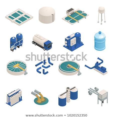 Wasser Behandlung filtern Symbol Vektor Stock foto © pikepicture