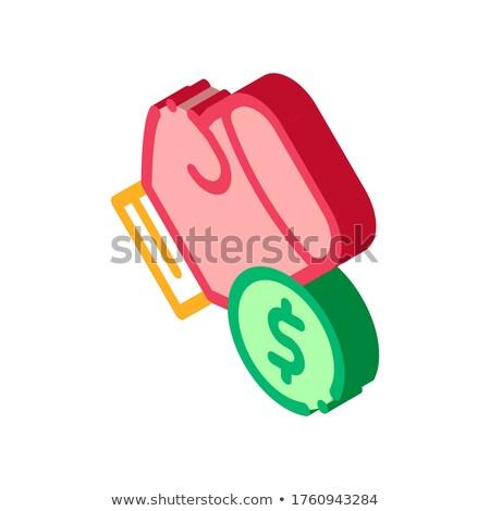 Box kézjel fogadás hazárdjáték izometrikus ikon Stock fotó © pikepicture