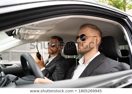 Occhiali da sole auto parlando Foto d'archivio © AndreyPopov