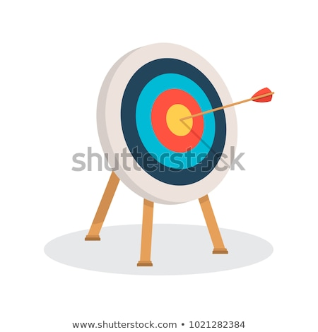 Archery Target With Arrows isometric icon vector illustration Stock photo © pikepicture