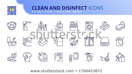 Foto stock: Produtos · de · limpeza · diferente · cores · bubbles · fundo · limpeza