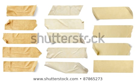 collection of various adhesive tape pieces on white background stock photo © inxti