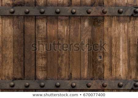 wooden background with iron rivets Stock photo © Rob_Stark