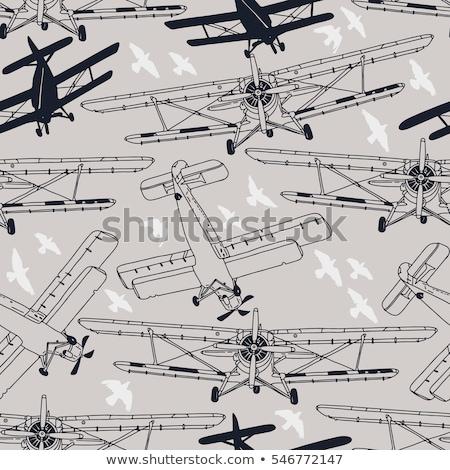 старые · самолет · двигатель · пропеллер · Blue · Sky - Сток-фото © deyangeorgiev