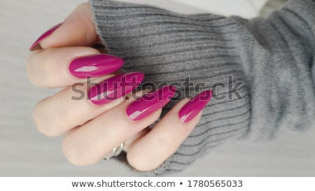 Stock photo: Acrylic fingernails