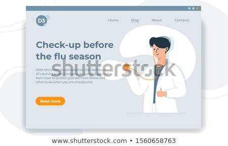 genç · doktor · stetoskop · portre - stok fotoğraf © rosspetukhov
