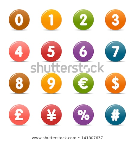 Number currency and mathematical symbol web buttons Stock photo © Balefire9