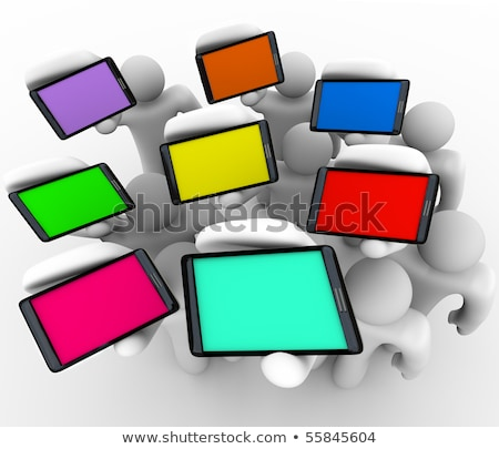 Smart Phones - Array of Colored Screens Stock photo © iqoncept