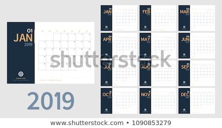 Août table calendrier blanche Photo stock © seenivas