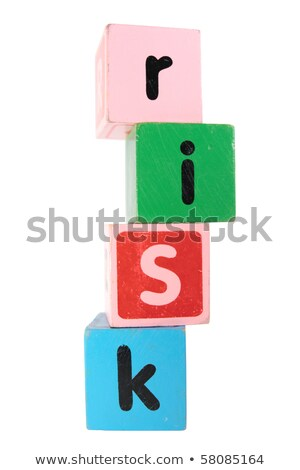 risks in toy play block letters with clipping path stock photo © morrbyte