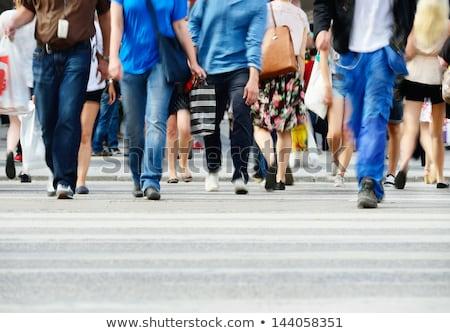 女性 脚 群衆 通り ショッピング 女の子 ストックフォト © dsmsoft