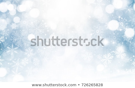 Stock foto: Winter · blau · Schneeflocke · Kopie · Raum · Blume · Schnee