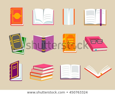 pile of closed red books Stock photo © LoopAll