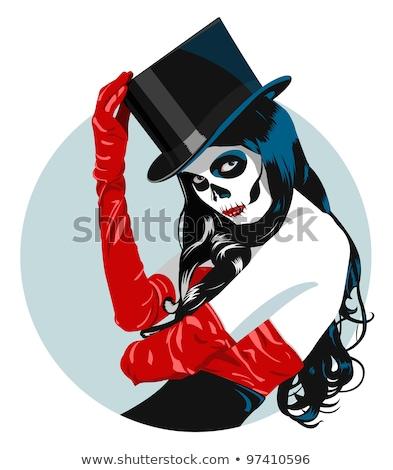 Stock photo: Sugar Skull Girl In Tophat