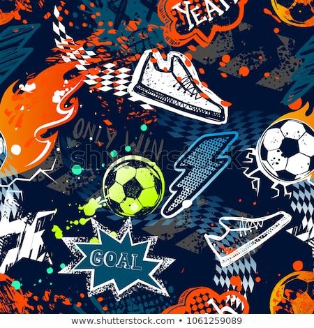 résumé · football · coloré · star · club · Rainbow - photo stock © rioillustrator