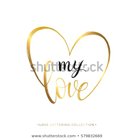 You are my heart in golden heart Stock photo © marinini