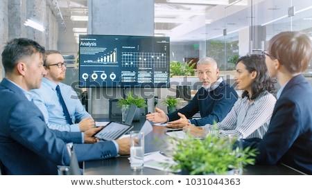 Vergadering directeur computer kantoor man zakenman Stockfoto © photography33