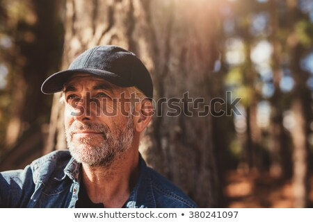 Grey-haired man in park Stock photo © photography33