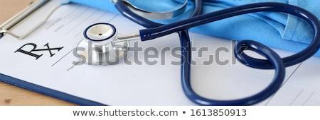estetoscópio · prescrição · saúde · medicina - foto stock © devon