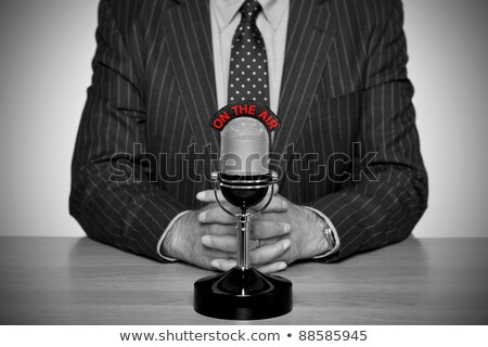 breaking news   old fashioned television stock photo © iqoncept