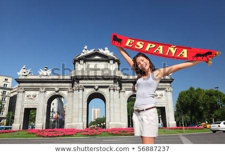 魅力のある女性 スペイン国旗 女性 笑顔 顔 ストックフォト © photography33