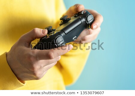 Fille console de jeux temps jouer test gagner Photo stock © photography33