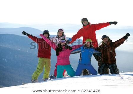 gelukkig · paar · samen · sneeuw · park - stockfoto © photography33