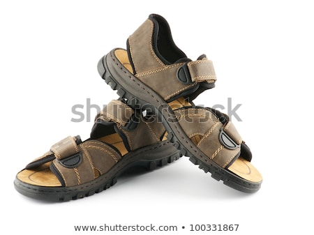 Brown man's Shoes Sandals with Velcro fastener  Stock photo © zhekos