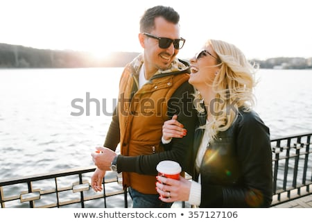 Happy young couple romancing eachother Stock photo © get4net
