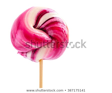 round shape lollipops on white background stock photo © gladiolus