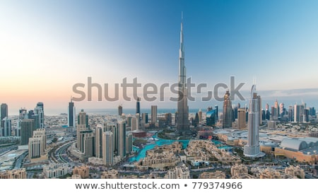 dubai burj khalifa skyscraper stock photo © dotshock