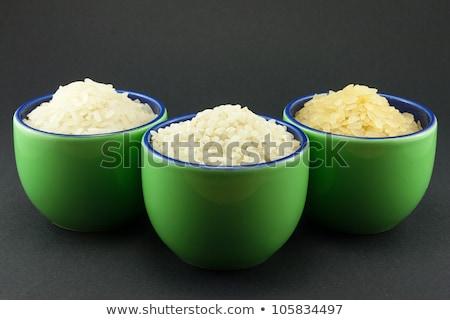 Сток-фото: три · риса · небольшой · зеленый · продовольствие