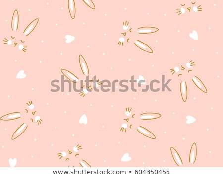 seamless pattern with sleeping rabbits stock photo © unweit