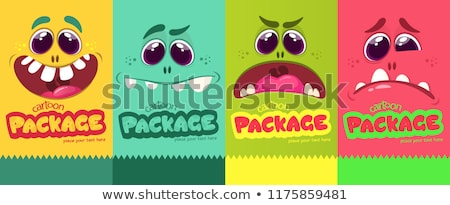 Stock photo: Four  monsters. Vector illustration