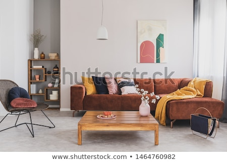 sofa · vaas · interieur · abstract · licht · ontwerp - stockfoto © Ciklamen
