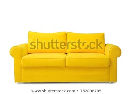 Geel · sofa · kamer · interieur · abstract · ontwerp - stockfoto © Ciklamen