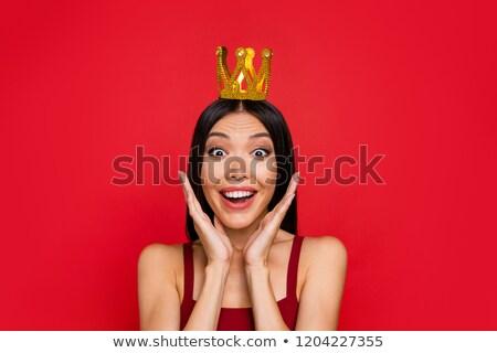 ハリウッド 悲鳴 クイーン 女性 悲鳴 口 ストックフォト © ralanscott