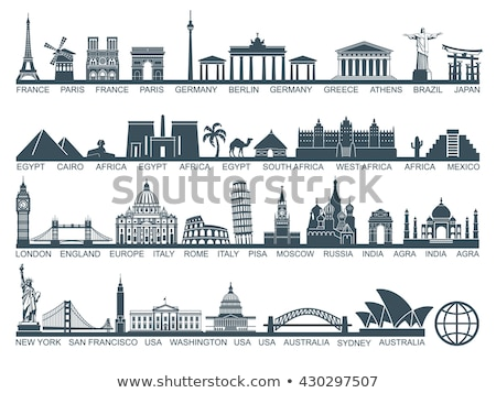 world landmark silhouettes set stock photo © cienpies